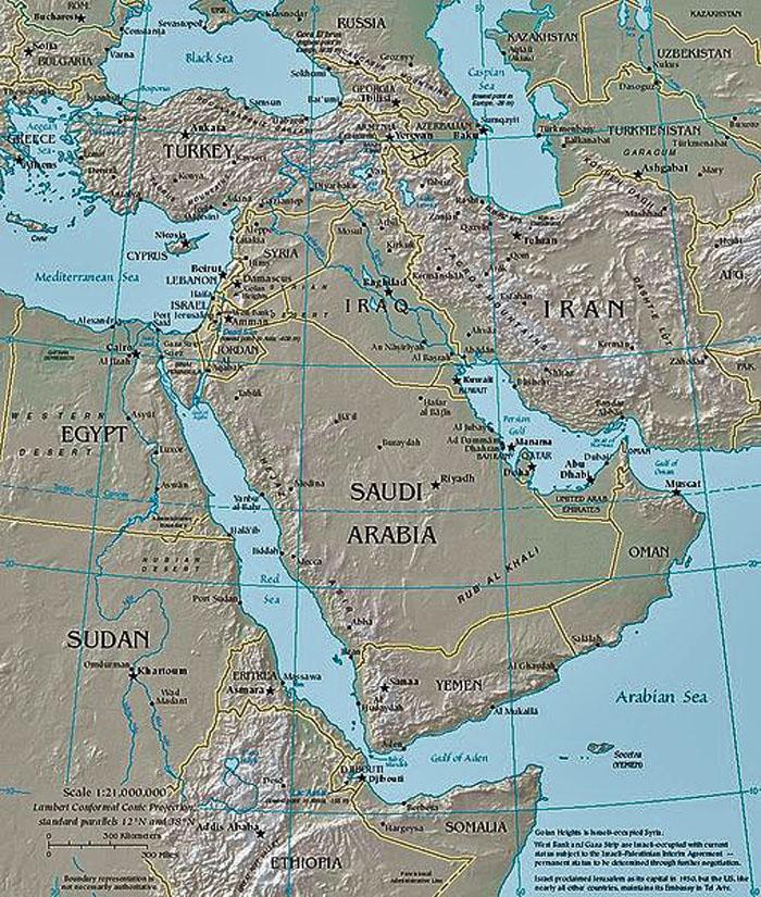 karta mellanöstern Irankonflikten Sovjetiskt försök att expandera i mellanöstern karta mellanöstern